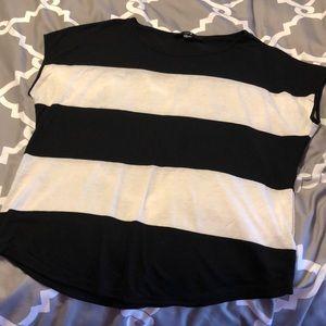 Forever 21 Black & White Striped Tee